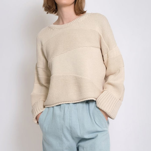 Micaela Greg Uma Sweater in Cream