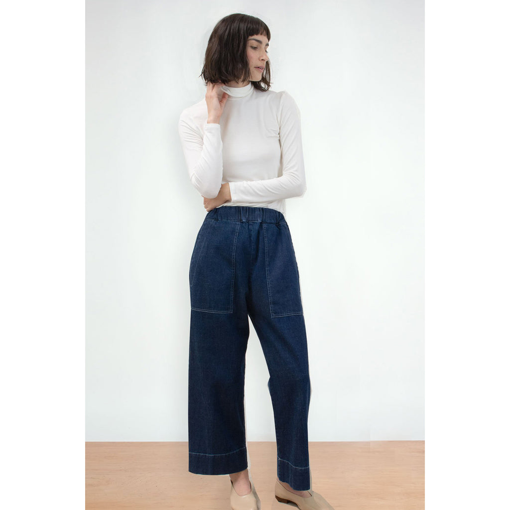utility pant in true indigo