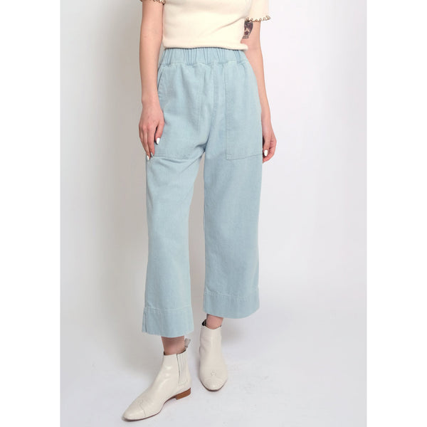 Micaela Greg Utility Pants in Sky Blue Denim