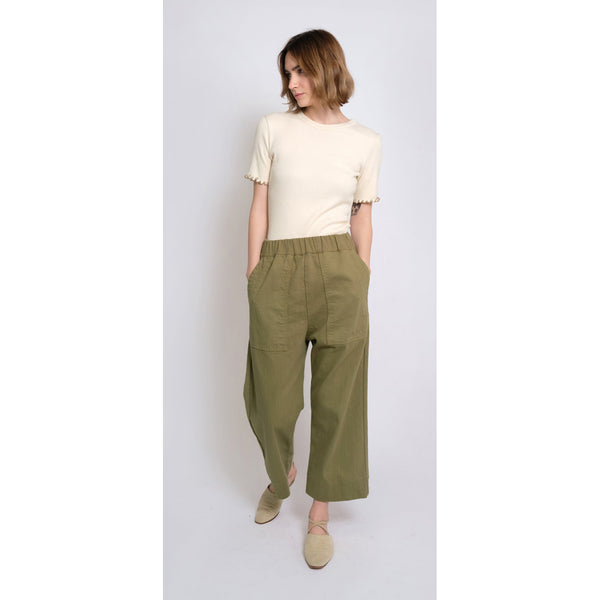 Micaela Greg Utility Pants in Green Tea