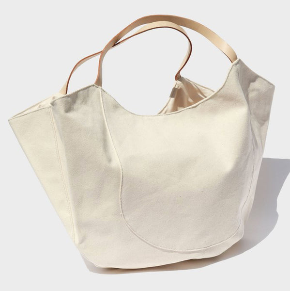 Modern Weaving Oversize Natural Cotton Canvas Tote