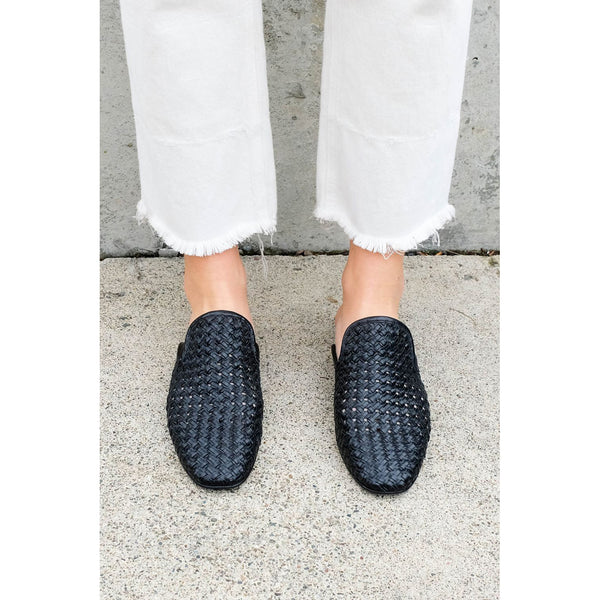 Freda Salvador Murphey Mule in Black Woven
