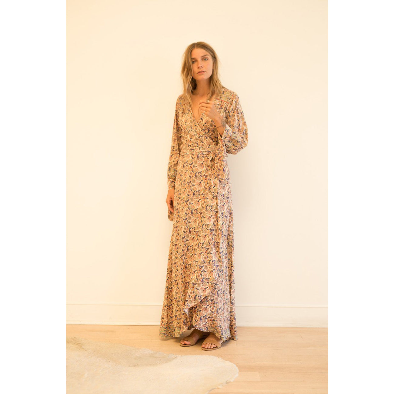 Natalie Martin Collection Danika Long Sleeve Dress in Goa Print