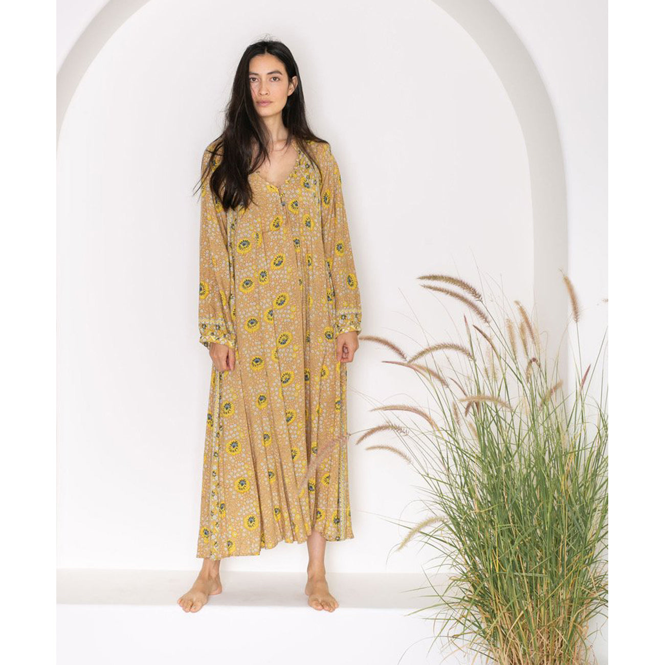 Natalie Martin Fiore Maxi in Vintage Flowers Gold
