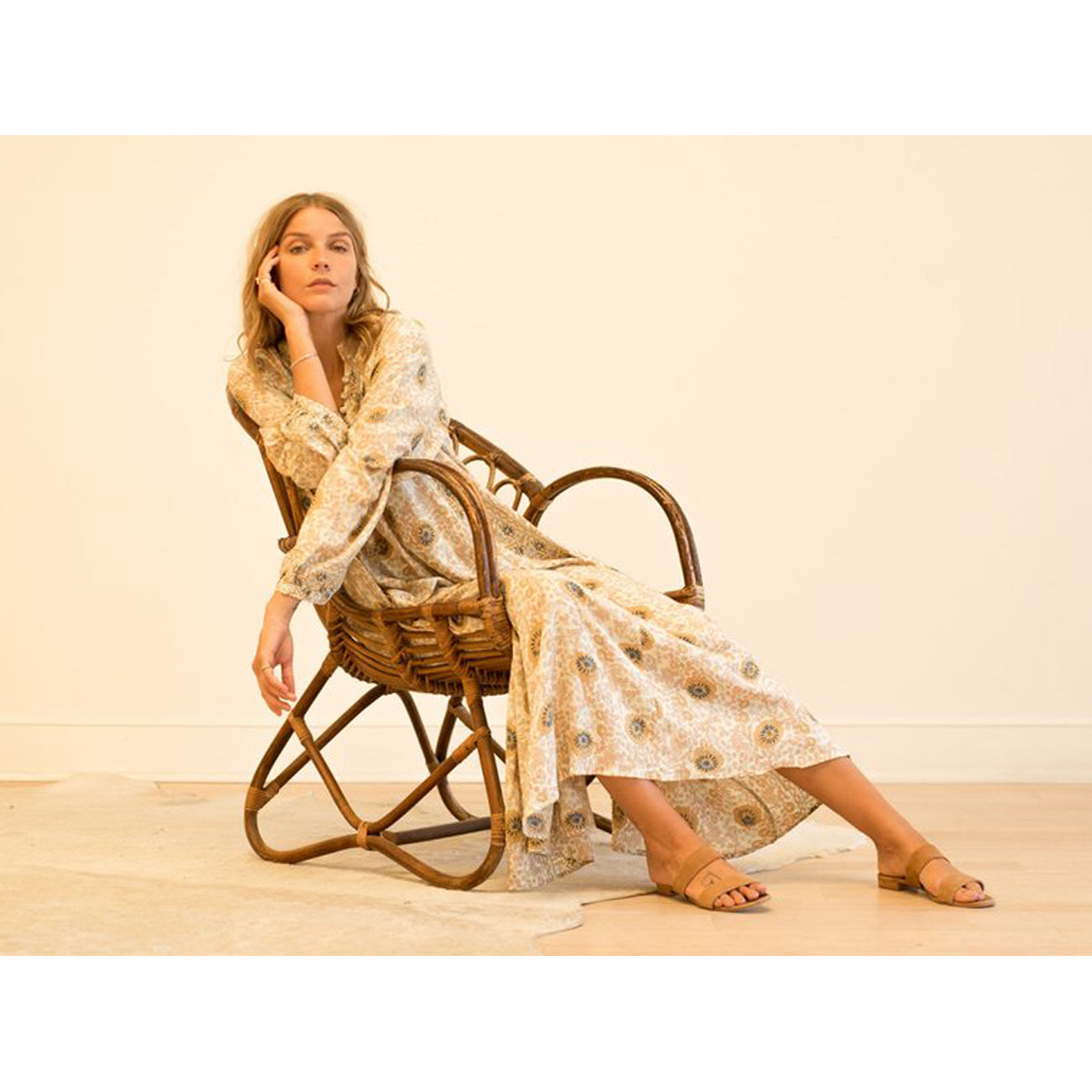 Natalie Martin Collection Fiore Maxi in Vintage Flowers Sand