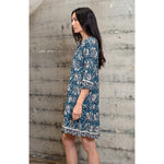 stevie dress in vintage flowers turquoise