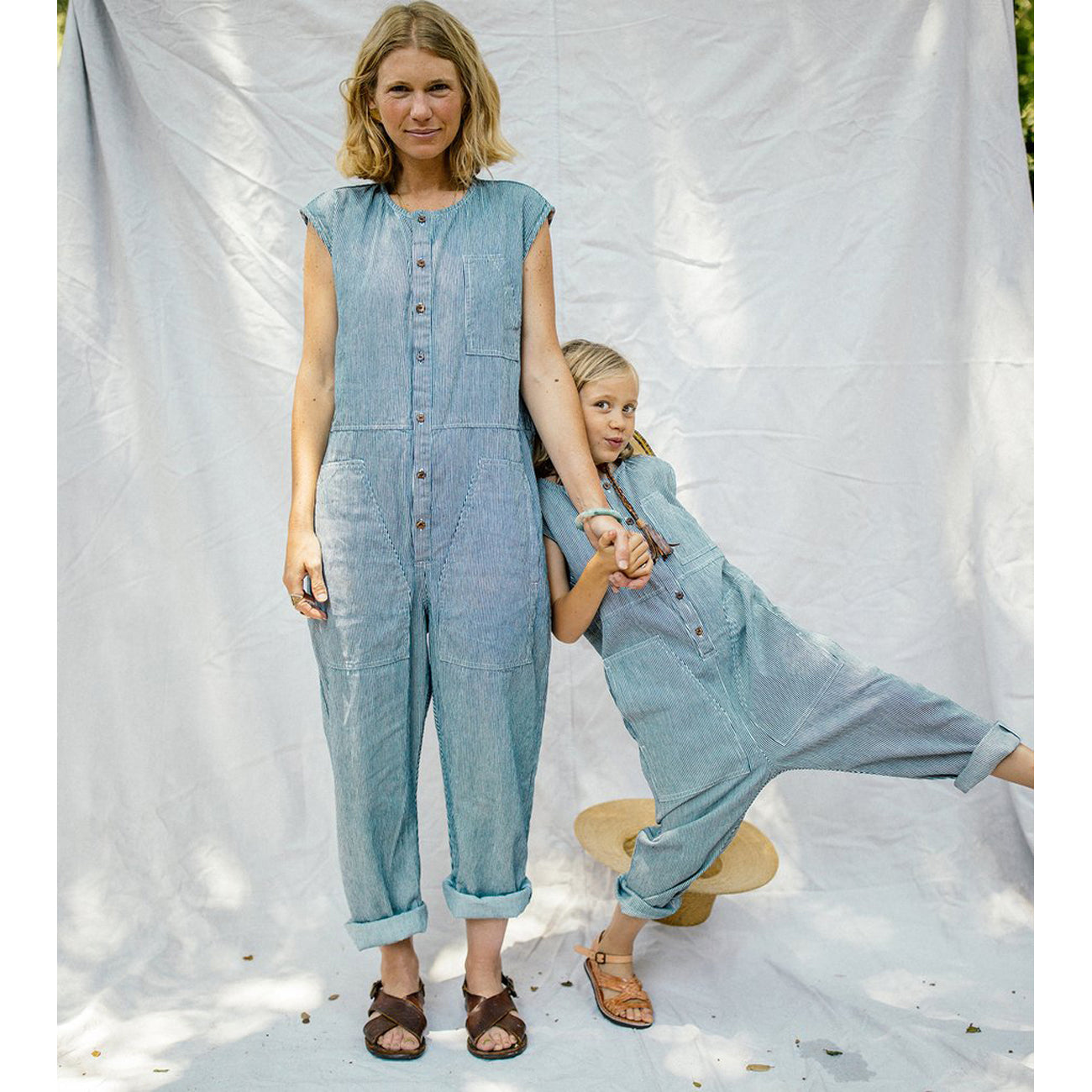 harlowe jumpsuit in railroad