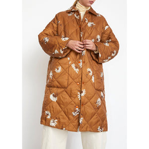 lewis coat in bronze fallen floral