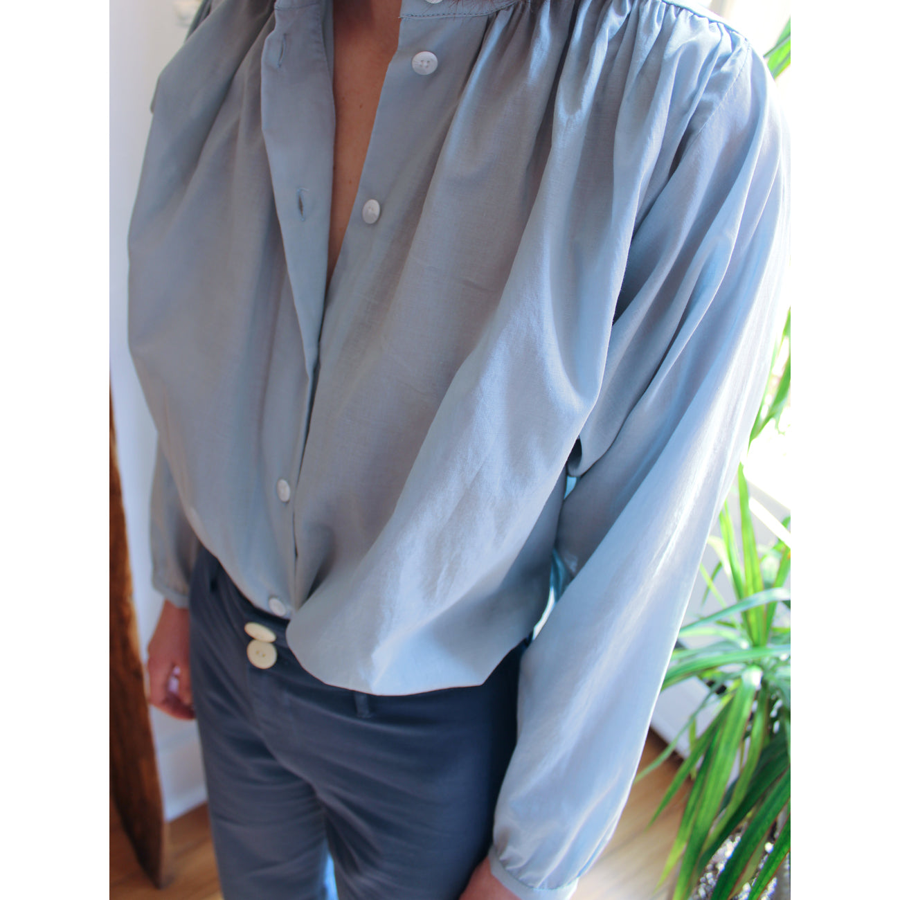 No.6 Quinn Blouse in Cloud