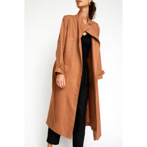 alexander duster in toast linen