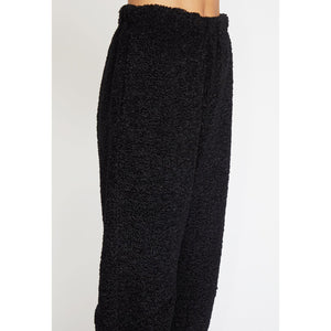 costanza fleece pant in black