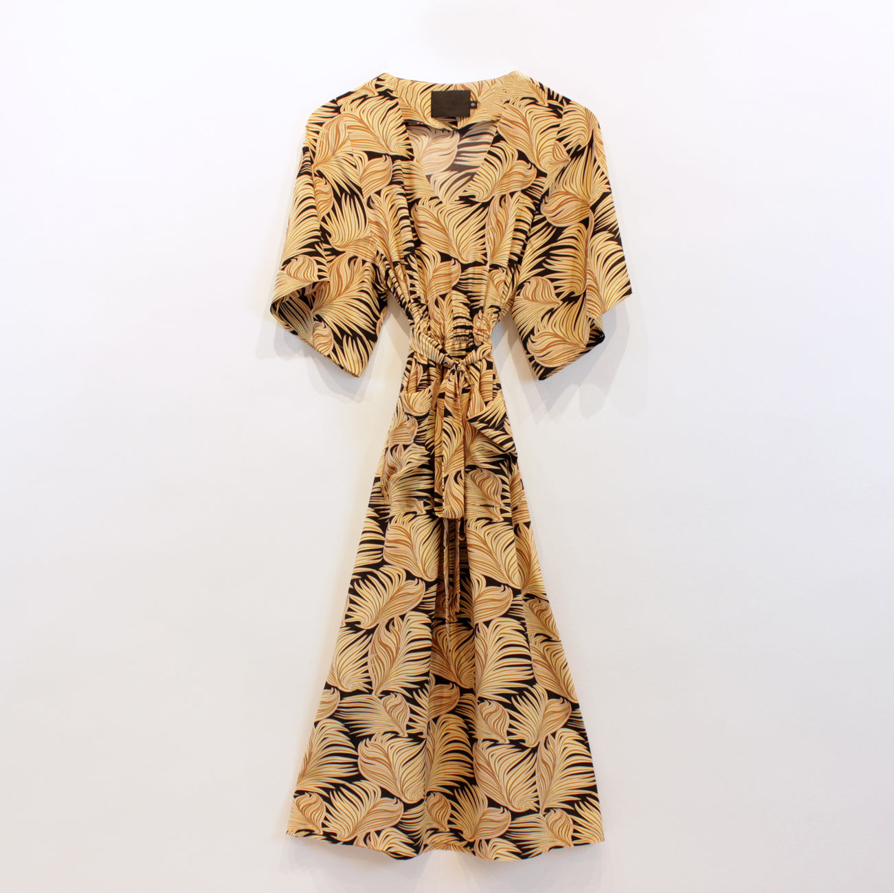 grace dress in brown fern