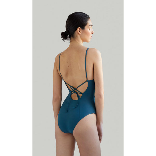 NOW_THEN Barton Onepiece Eco Swimsuit in Algae