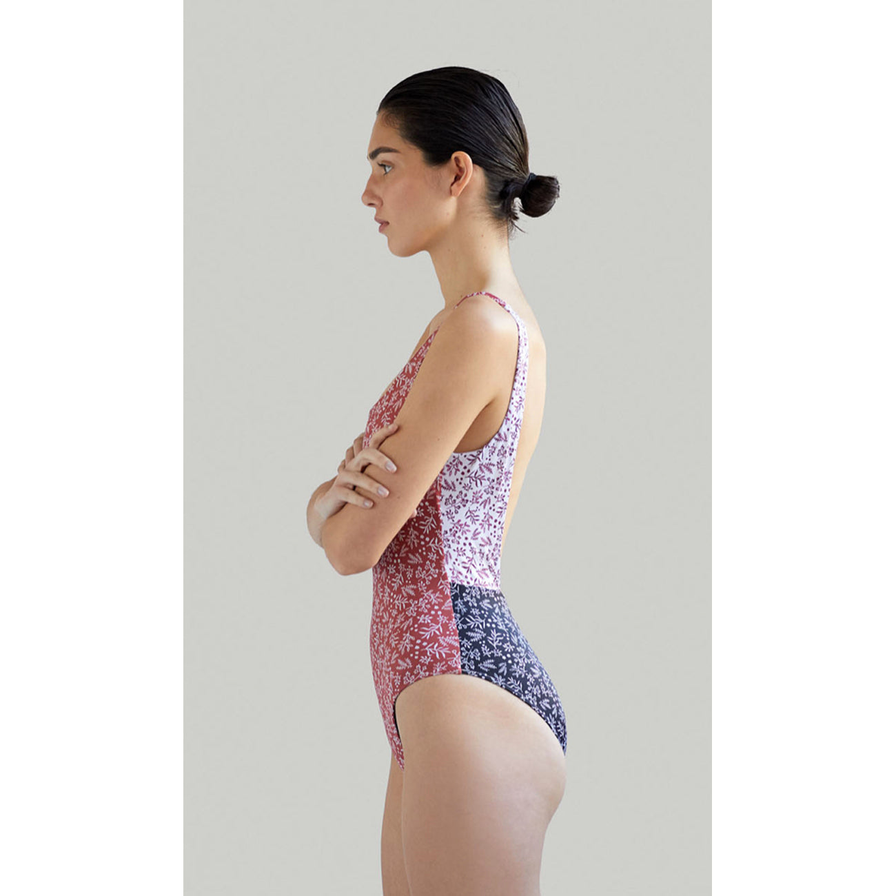 NOW_THEN Del Carmen Onepiece Eco Swimsuit in Anemone