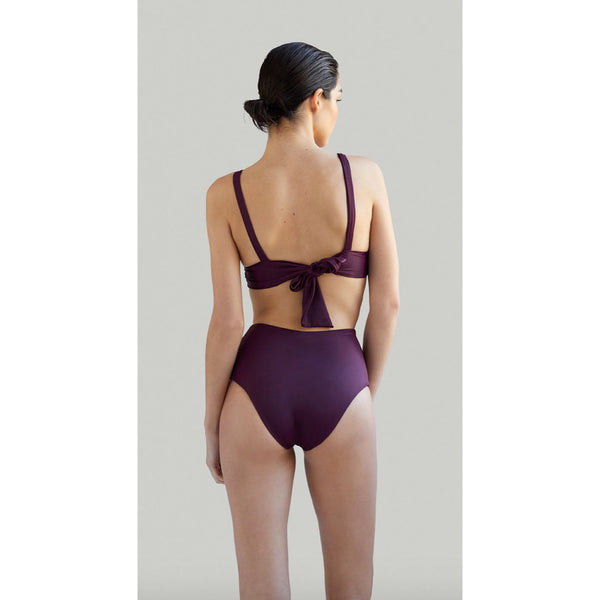 NOW_THEN Kapalai + Farond Eco Bikini in Plum