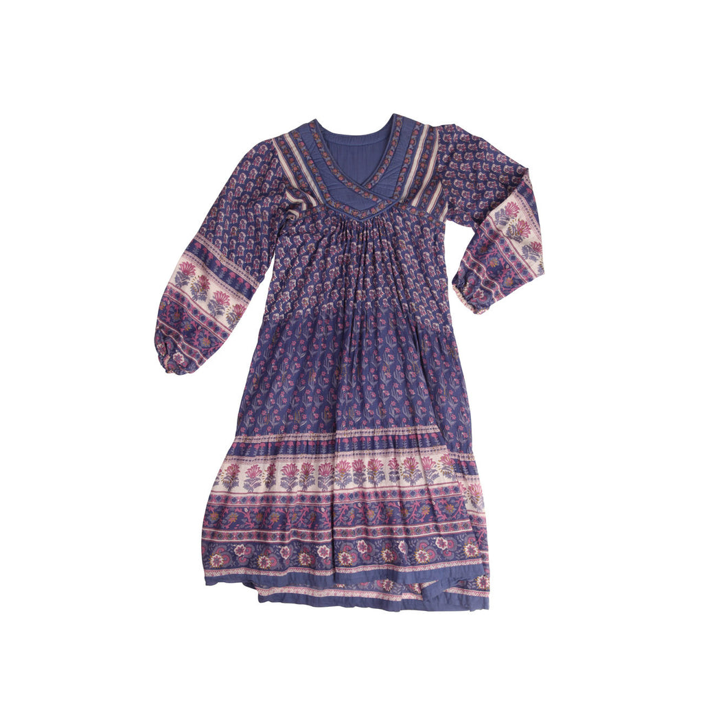 violet cotton dress