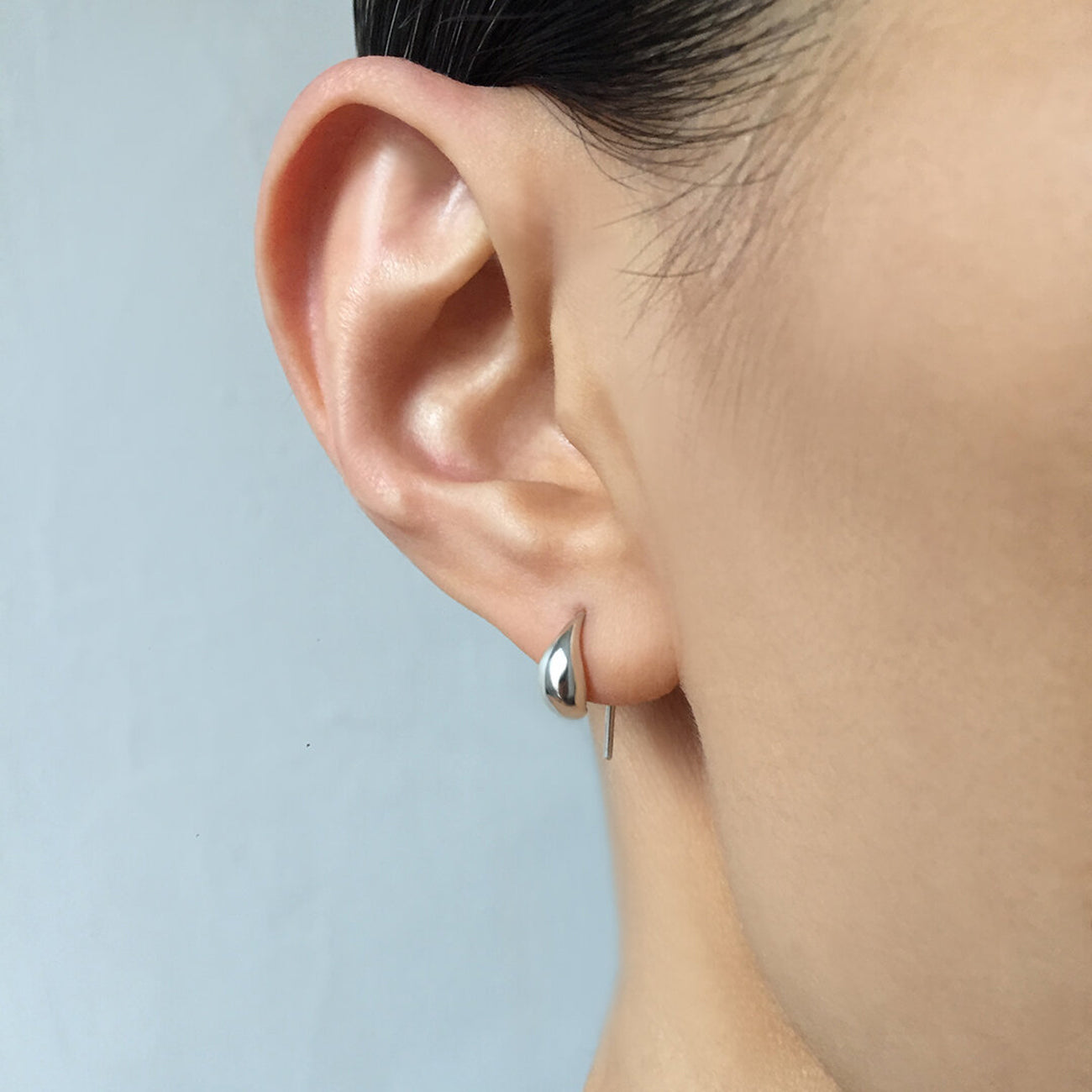 pilar earring in silver