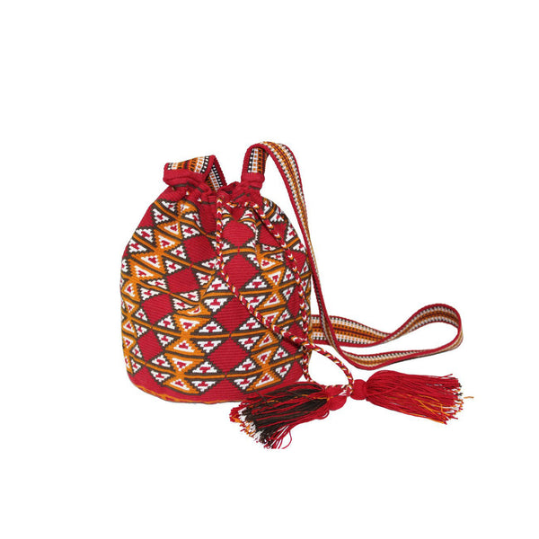 Large Brick Red Wayuu Bag