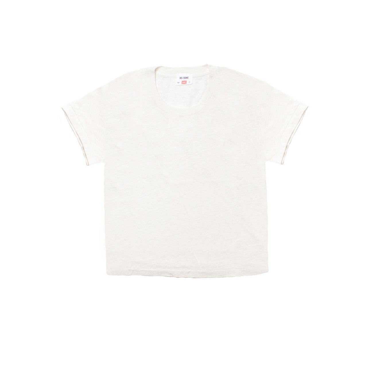 Re/Done Hanes The 1950s Boxy Tee in White