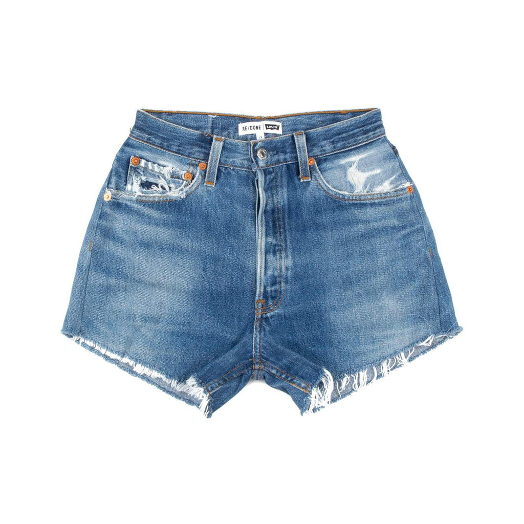 high rise relaxed cut off shorts