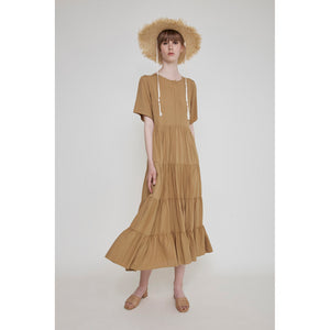 pia dress in latte