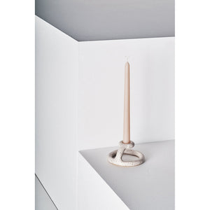 uni candlestick in speckled white