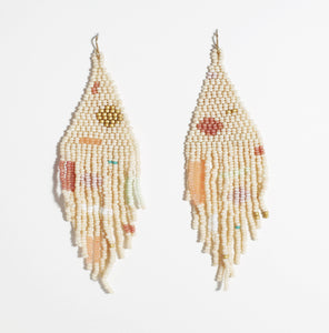 beach party beaded earrings