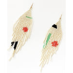 soft shape beaded earrings