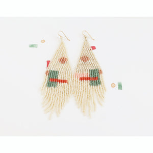 sundae beaded earrings