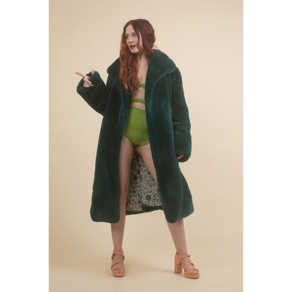 Samantha Pleet Sovereign Coat in Emerald