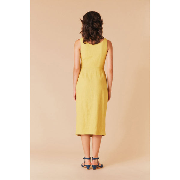 Samantha Pleet Tulip Dress in Sunflower