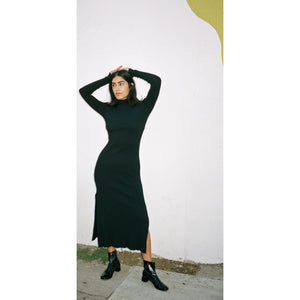 eloise dress in negra hemp rib