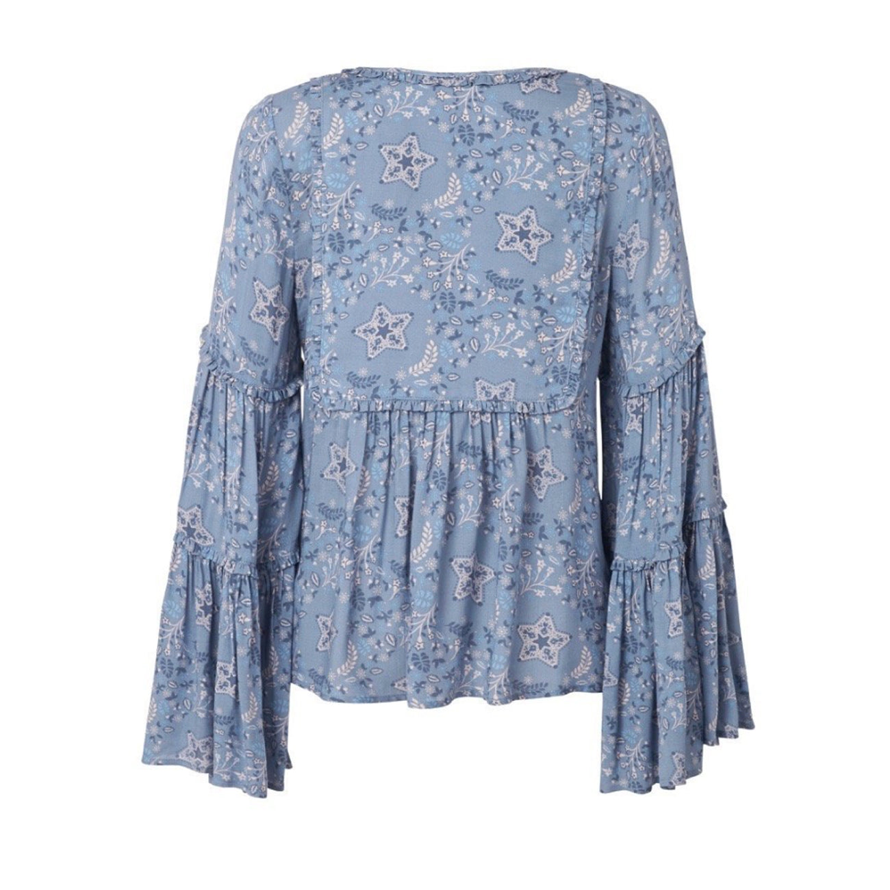 Spell and The Gypsy Collective Celestial Blouse in Chambray