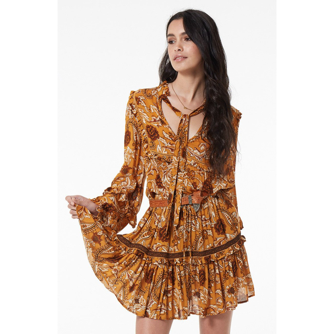 Spell and The Gypsy Collective Etienne Blouse in Sienna