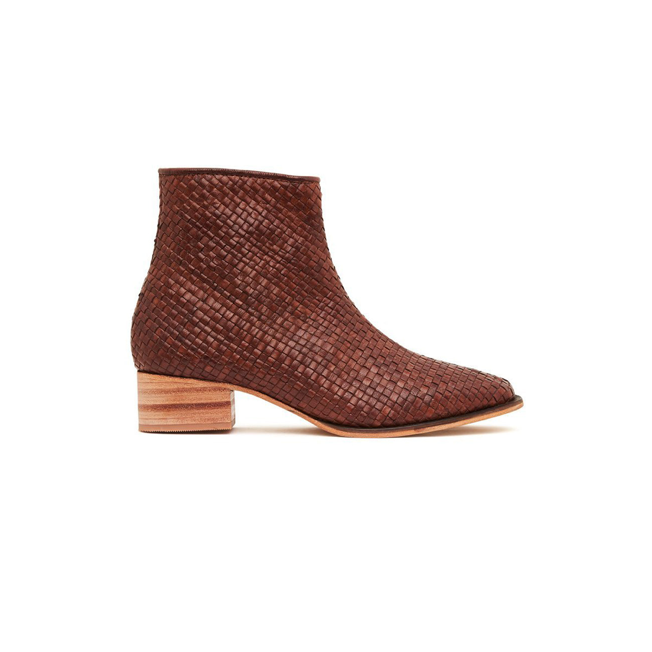 hamlet woven boot in antique tan