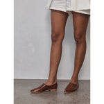 julien flats in antique tan