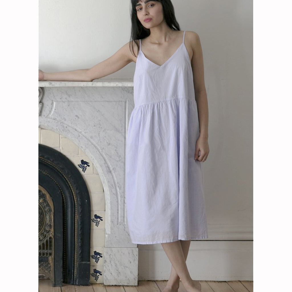delphine dress in lilac