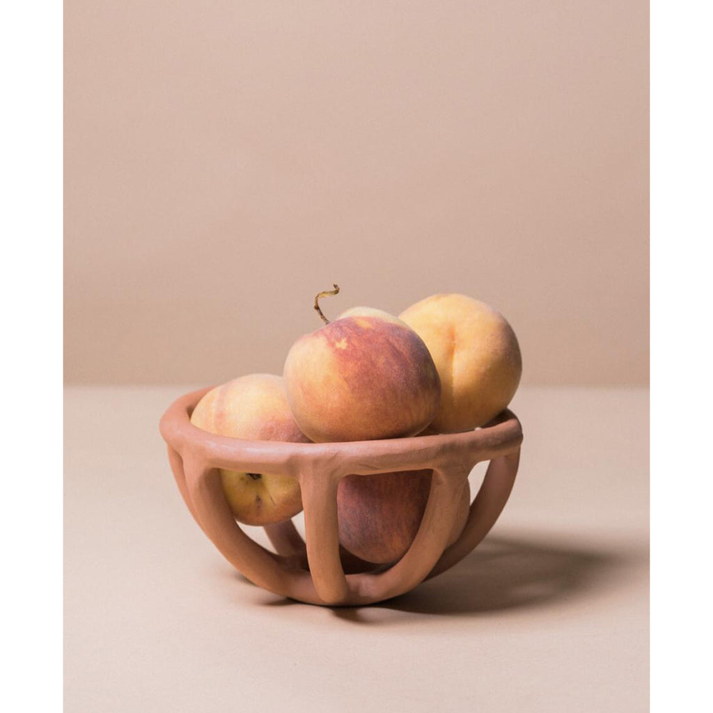 prong fruit bowl in terracotta