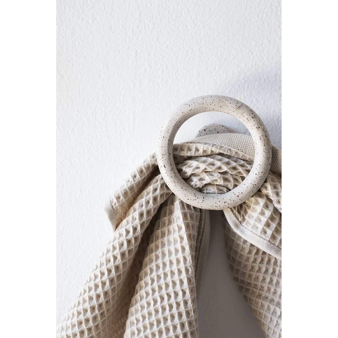 wall hook in speckled white