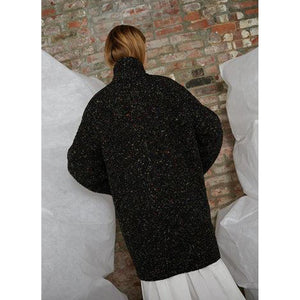 cocoon coat in rainbow speckle