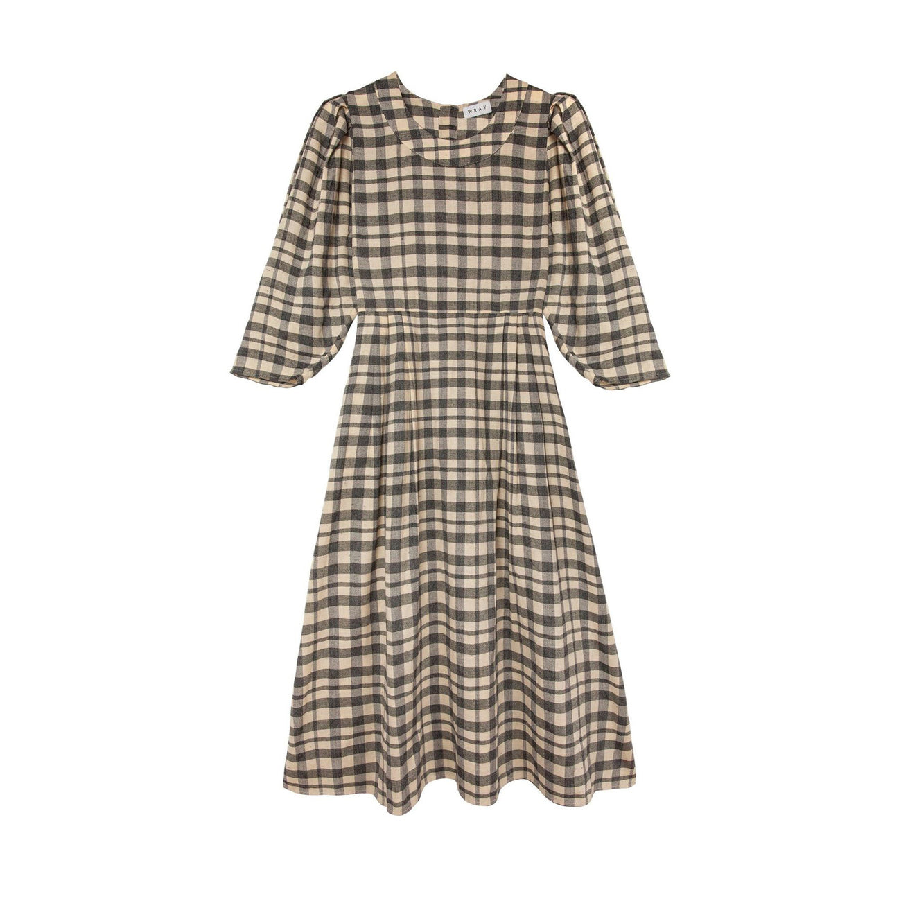 bardot dress in grey check