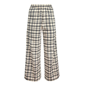 luna pant in grey check