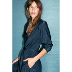 bianka dress in twilight blue