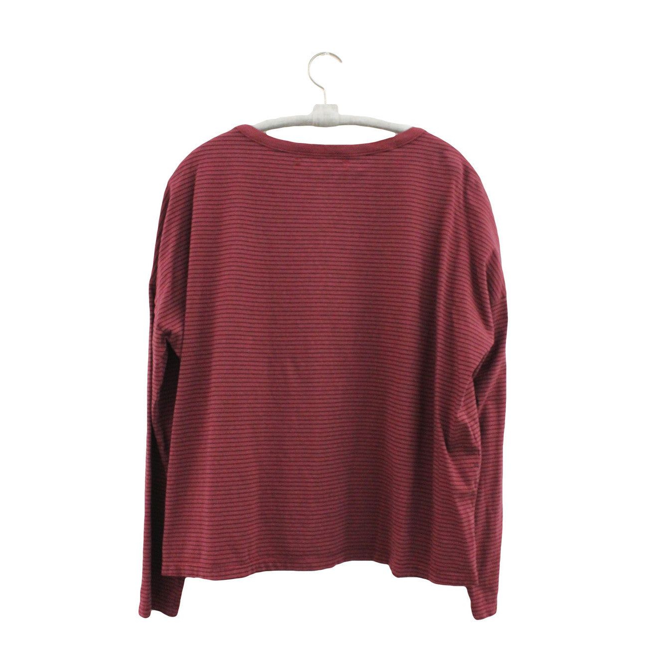 Xirena Notebook Stripe Jersey Farrah Top in Redwood