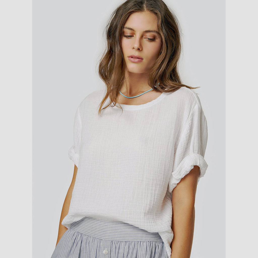 savoy top in white