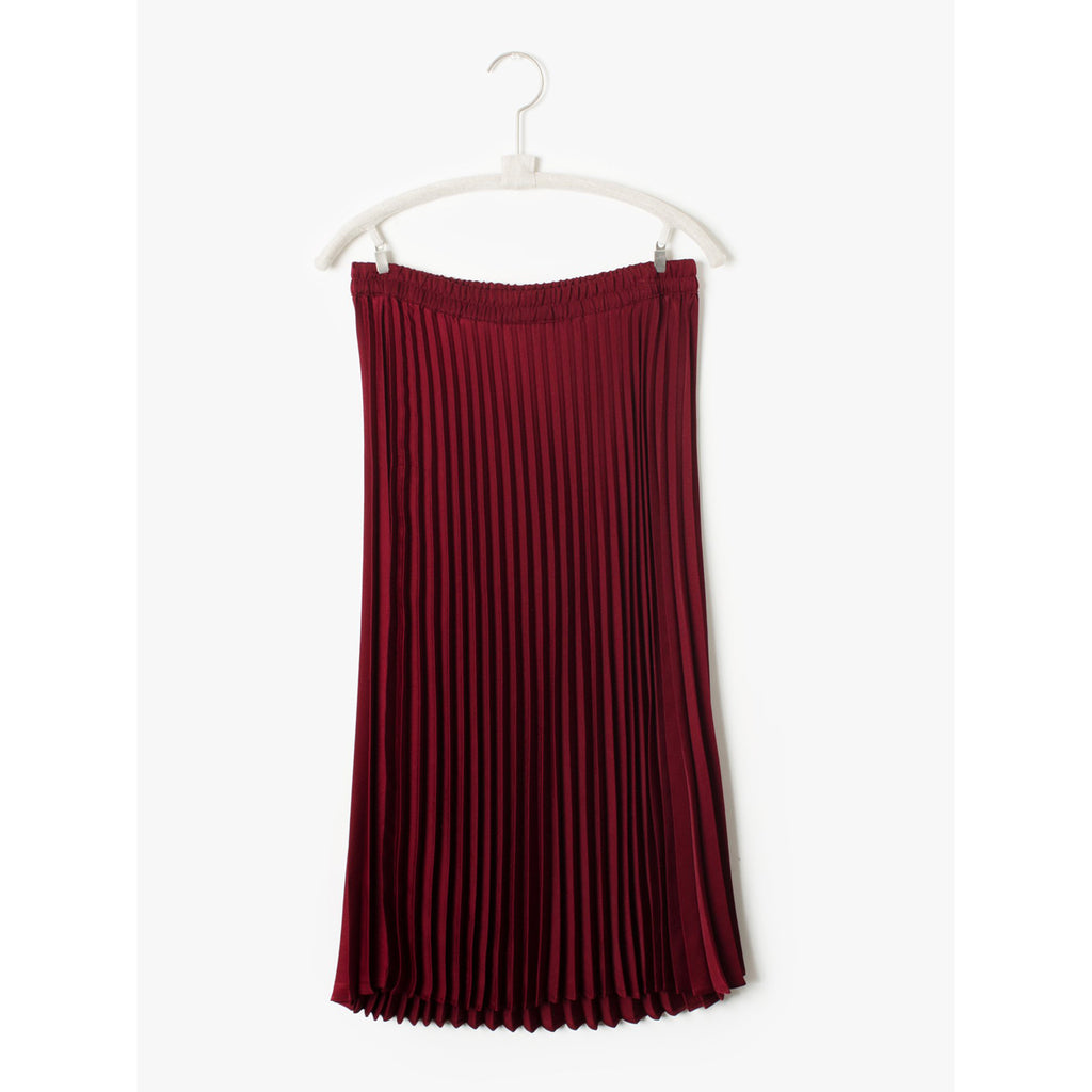 sienna pleated skirt in rosewood