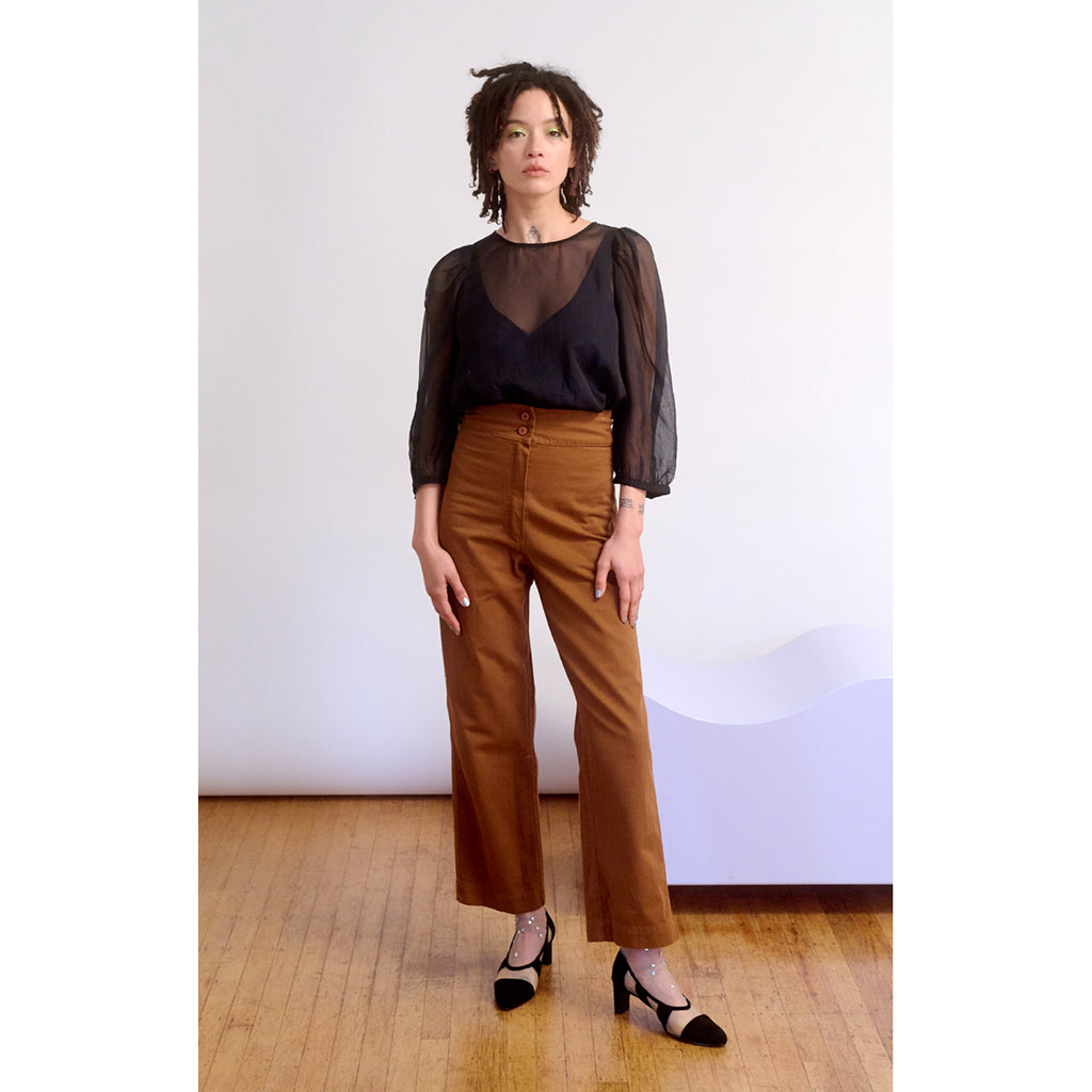 cotton pants w/ pockets in copper