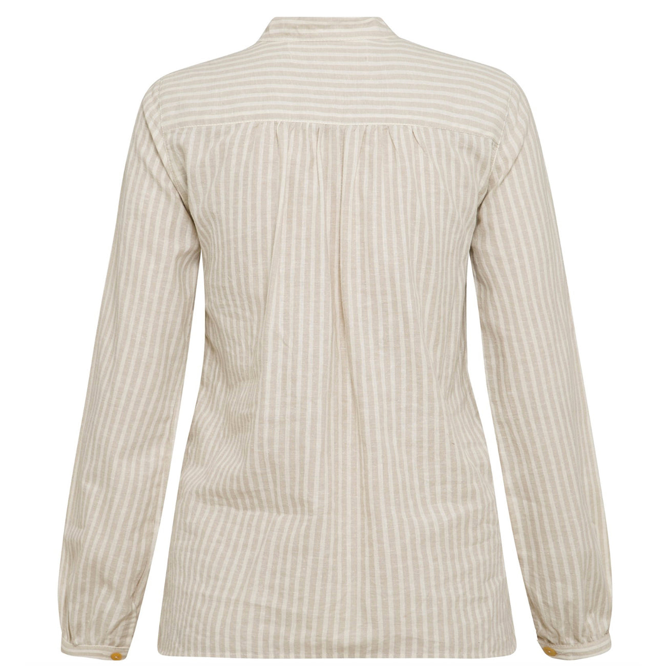 lou shirt in oat & twig stripe