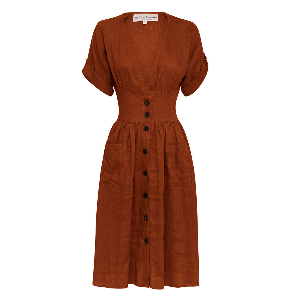 audrey dress in ochre