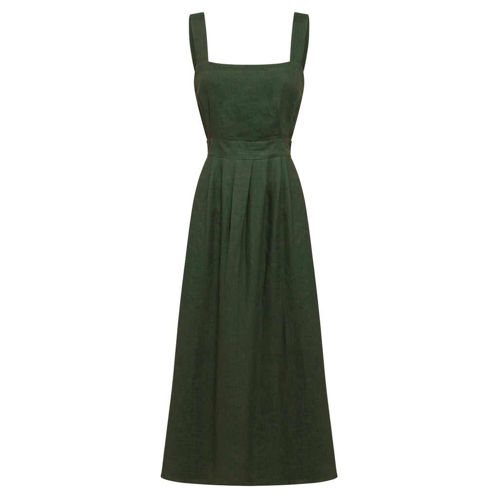 ophelia dress in forest